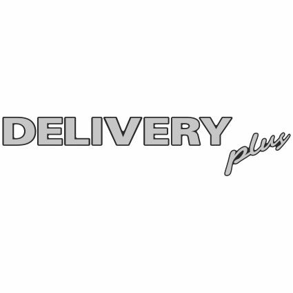 Emblema Resinado Delivery PLUS FRENTE (Escovado)