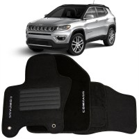Tapete em Carpete Jeep Compass - Preto